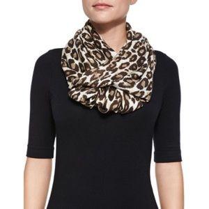 Kate Spade leopard circle scarf